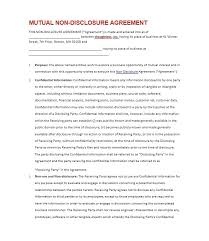 Nda Document Template 40 Non Disclosure Agreement Templates Samples Forms Template Lab