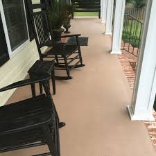 concrete patio after painted with behr granite grip paint  my diy