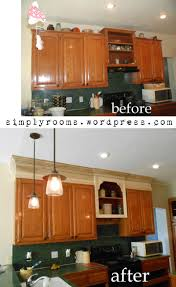 Kitchen Cabinets To Diy How To Disguise A Kitchen Soffit Notebooks Diy And Crafts