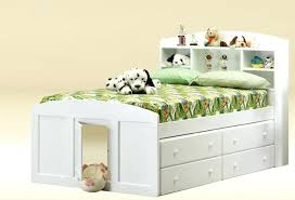 painted wooden bed frame frames white full size with drawers underneath for kids bedroom twin also