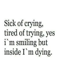 Trying Quotes Magnificent Inspirational Quotes About Strength Sick Of Crying Tired Of