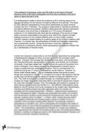 hamlet essay year hsc english advanced thinkswap hamlet essay