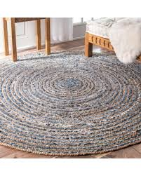 savings on nuloom handmade braided natural fiber jute and denim inside 6 round rug inspirations 3