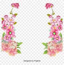colorful frame border design vine