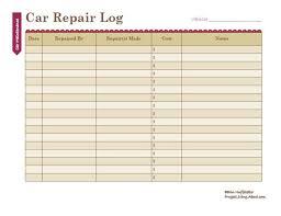 Vehicle Repair Log Barca Fontanacountryinn Com