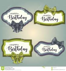 Birthday Tags Template Template Set Of Colorful Vintage Birthday Tag Frames Decorated With