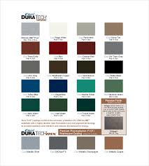 6 Pantone Color Chart Templates Doc Pdf Free Premium