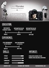 photographers resume photographer resume on behance