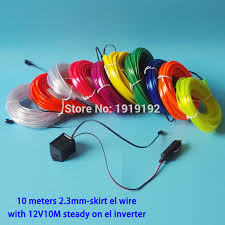 10meters 23mm skirt el wire rope tube flexible neon light 10 color choice for billiard room lighting