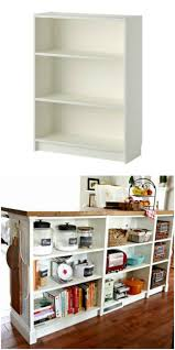 Turn you short Billy bookcase into a double-duty kitchen island using this IKEA  hack