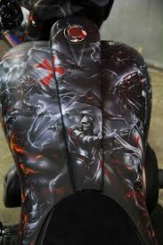 airbrushed knights templar motorcycle painted by mike lavallee of paint paint