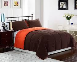 orange and brown bedding 3 pc brown and orange comforter set