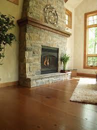 fireplace with reclaimed wood douglas fir mantel