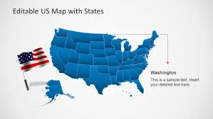 Us Map Editable Us Map Template For Powerpoint With Editable States Slidemodel