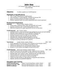 Forklift Operator Job Description For Resume Resume Warehouse Job Description For Resume 9
