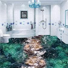 beibehang <b>Custom floor painting 3D</b> living room sea spray surf floor ...
