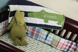 7 10 boy alligator nursery blanket