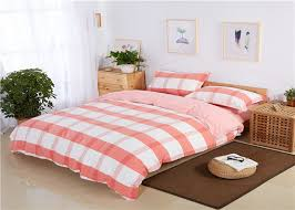 long staple cotton pink and white bedding sets tiwn king queen size