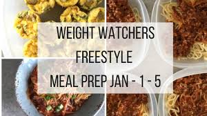 weight watchers freestyle meal prep week jan 1 5th recipe diaries