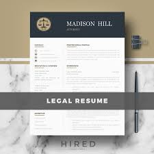 Legal Resume Template For Ms Word Madison Legal Resume