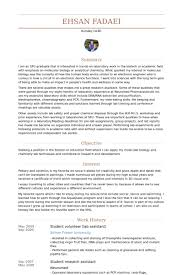 Lab Assistant Resume Simple Lab Assistant Resume Samples VisualCV Resume Samples Database