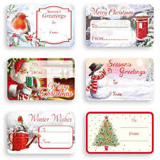 Traditional Self Adhesive Christmas Gift Labels Pack Of 150