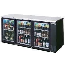 beverage air bb78hc 1 g b alt 79 black glass door back bar refrigerator with stainless steel