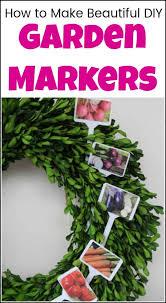 how to make beautiful diy garden markers