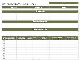 work plan examples employee action plan examples word corrective example model