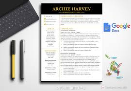Professional Resume Template Archie Harvey Bestresumes