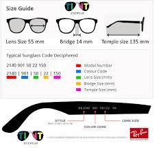 Sunglasses Frame Size Chart Aviator Large Metal 55 Rb3025 55 Lens Size Frame Size