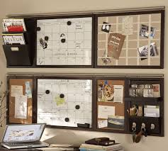 wall organizers home office. pottery barn office organizer build your own daily system components espresso stain wall organizers home
