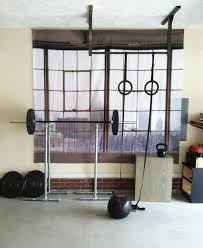 another diy home gym i can t decide if the fake window is tacky
