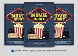 Movie Flyer Movie Night Flyer Flyer Templates Creative Market 1