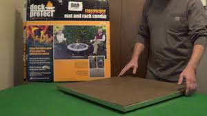 Fire Pit Mat Youtube