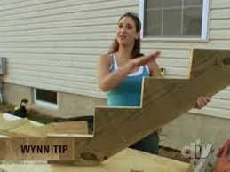 building outdoor wooden stairs diy