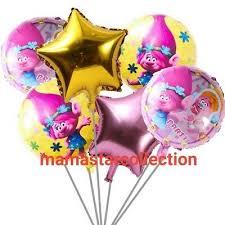 <b>Brand New 6 pcs</b> Poppy Trolls Troll Balloons poppy birthday party ...