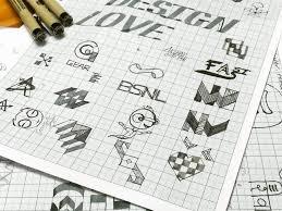 Logo Sketches Ideas On Graph Paper By Akshay Khandalkar Dribbble