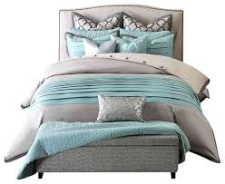 teal gray bedding contemporary teal and gray bedding with two coordinating standard shams and euro shams