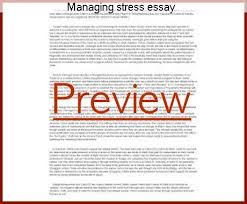 managing stress essay term paper writing service managing stress essay