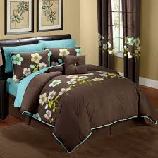 Superb Turquoise And Brown Bedroom Photo   1