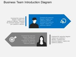 Introduction Powerpoint Template Business Team Introduction Diagram