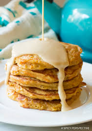 Easy Carrot Cake Pancakes With Cream Cheese Maple Syrup A Spicy