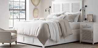 Distressed White Bed Shutter Collection Cheap White Bedroom Vanity ...