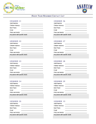 Cute Contact List Template 40 Phone Email Contact List Templates Word Excel