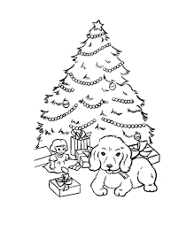 Christmas Dog Coloring Pages