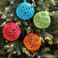 Decorating Christmas Ornaments Balls How to make yarn ball ornaments Hometalk 32