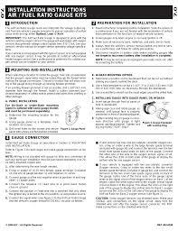 equus 8366 2 air fuel ratio gauge user manual 6 pages