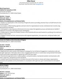 How To Prepare A Cv For Internship Resume Samples Uva Career Center