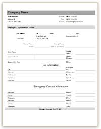 Form For Employee Employee Information Forms For Ms Word Excel Word